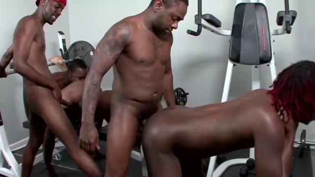 Black ebony group sex