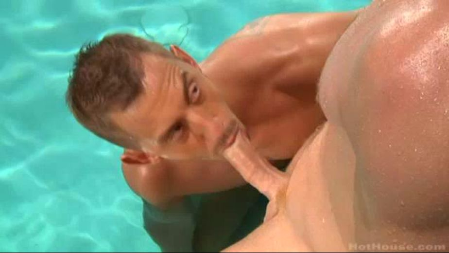 Swimming Across Palm Springs by Pool, starring Connor Maguire and Bryan Cole, produced by Falcon Studios Group and Hot House Entertainment. Video Categories: Muscles, Blowjob and Big Dick.