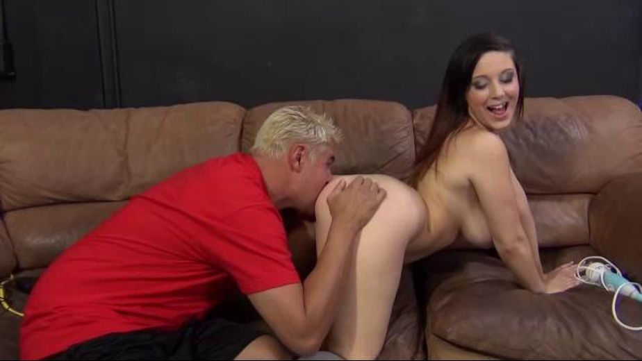 45 Inches of Prime Butt Goodness, starring Porno Dan and Noelle Easton, produced by Immoral Productions. Video Categories: Gonzo, Big Butt, Brunettes and Big Tits.