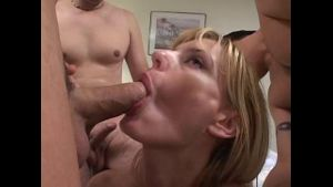 Hot MILF Takes Several Cocks.