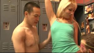 Post Workout Locker Room Gangbang.