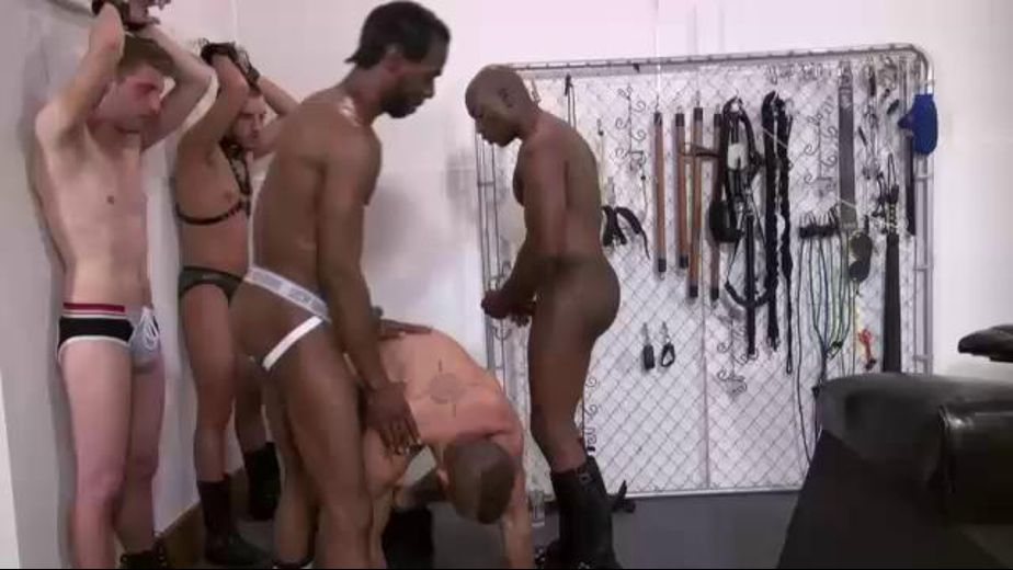 Bare Blacking These Fine White Boys, starring Chase Coxxx, Champ Robinson, Gio Ryder, Dylan Hyde and Cody Black, produced by Dick Wadd and The Load Masters. Video Categories: Fetish, Bareback, Black, Leather, Interracial, Big Dick and Anal.