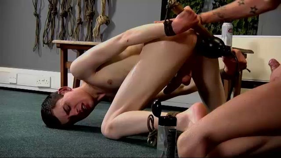 Gay twink asshole anal bondage and free