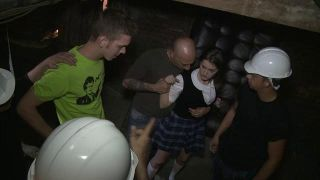 Bound Gangbangs: Russian Cutie With Braces Gets Caught Trespassing And Gangbanged - Scene 1