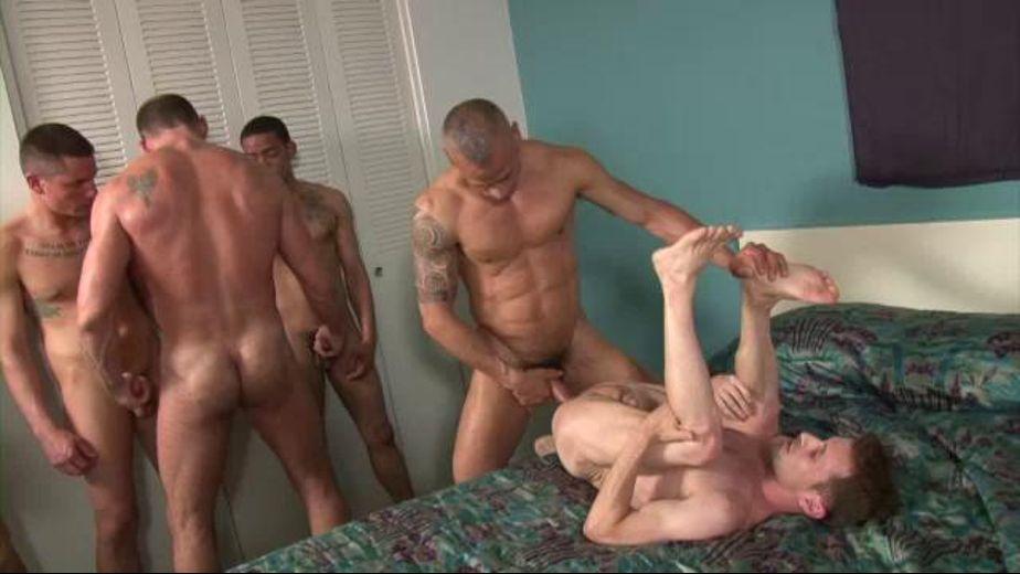 Swallowing the first of multiple loads, starring Sean Storm, Diego Alvarez, Dimitri Santiago and Kannon, produced by Treasure Island Media. Video Categories: Pigs, Bareback, GangBang and Uncut.