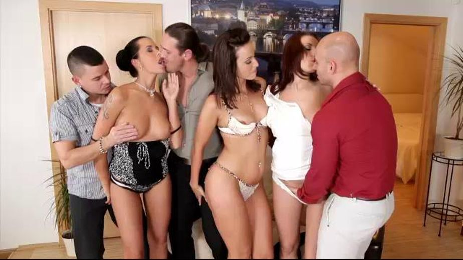 Swinger Couples Improvise an Orgy, starring Simone Style, Neeo, Mia Maniarotte and Victoria Dayniels, produced by Doghouse Digital and Mile High Media. Video Categories: Orgies, Big Dick, Anal and Blowjob.