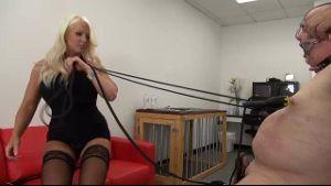 Blonde With Brick House Body Dominates Slave.