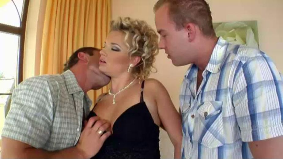 2 Cocks For A Nice Bitch, starring Luciana, produced by MVG Productions. Video Categories: Blondes and Threeway.