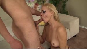 Mamma likes eating young hard cocks.