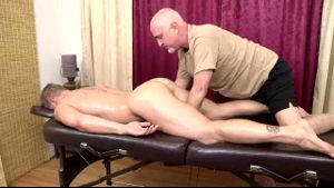 Mature Man Massages and Strokes Hot Man.