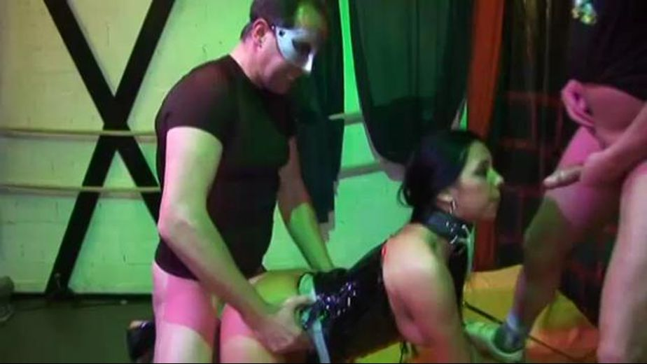Abusive Bastards Rudely Fuck Slave, starring Salma, produced by Obsession. Video Categories: GangBang, Blowjob, Brunettes, Fetish and BDSM.