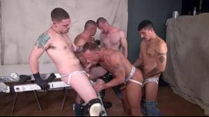 Smooth Bodied Bareback Orgy Pigs.