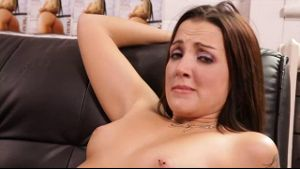Brunette with braces sucking cock.
