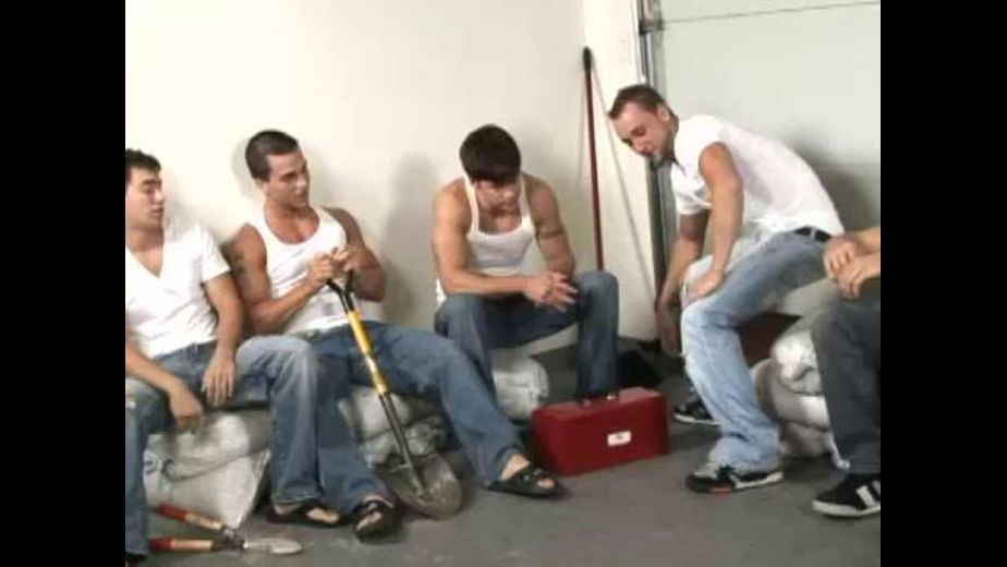 Guys Do A Circle Jerk Party, starring Brodie Sinclair, Blake Riley, James Hawke, Brad Coyote, Chris Rockway and Gavin Tate, produced by Randy Blue. Video Categories: Muscles and Orgies.