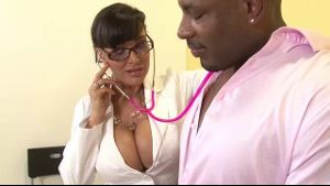 Doctor with Big Tits Loves Black Cock.