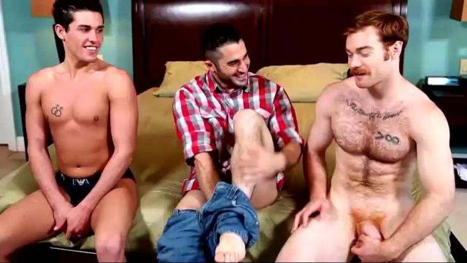 World Cup Threeway, starring James Jamesson, Samuel O'Toole and Jett Jax, produced by Next Door Studios. Video Categories: College Guys, Bear, Threeway and Muscles.