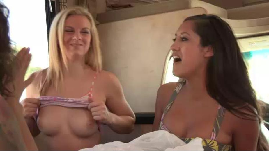 Lesbian RV party., starring Veronica Radke, Sami St. Claire, Penelope Stone, Natasha Voya, Gigi Allens and Chloe Anwar, produced by Girl Co.. Video Categories: Lesbian, College Girls, Masturbation, Small Tits and Natural Breasts.