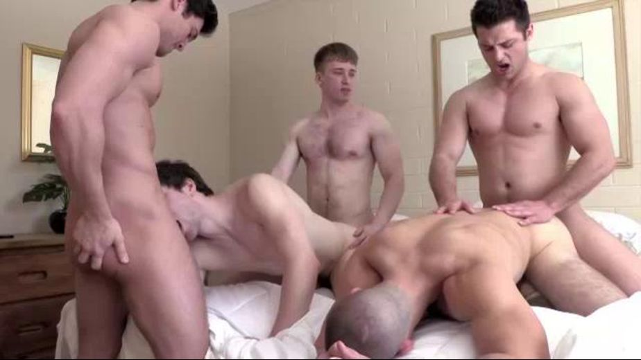 Five Guys, One Room, More Please, starring JJ Swift, Dmitry Dickov, Jaden Storm, Cole Money and Phillip Anadarko, produced by GayHoopla. Video Categories: Anal, Orgies, Safe Sex, Big Dick, College Guys and Muscles.