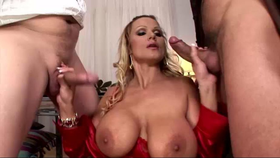 Lady in Red Tits Big As Your Head, starring George Uhl, Steve Q. and Sharon Pink, produced by DDF Production Ltd. Video Categories: MILF, Big Tits, Mature, Threeway and Blowjob.