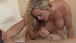 MILF giving a Sloppy Blowjob.