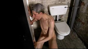 Silver Twink at the Gloryhole.