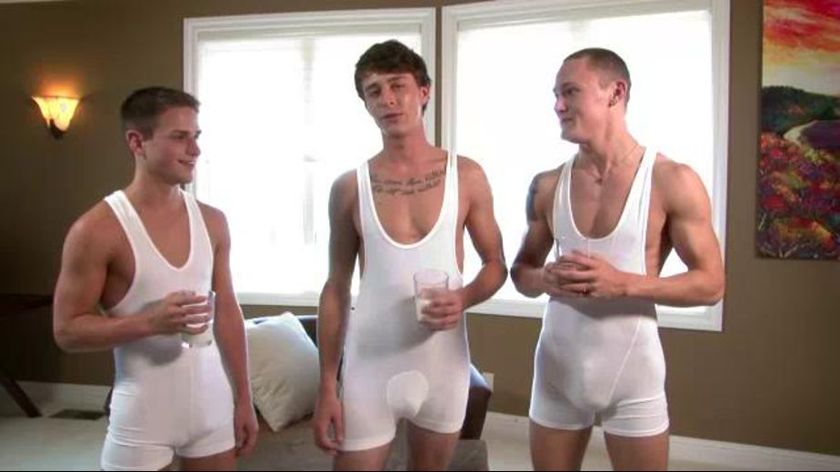 Why These Boys Love Milk, starring Trevor Laster, Jackson Taylor and Dan Riley, produced by Next Door Studios. Video Categories: Blowjob, College Guys and Safe Sex.