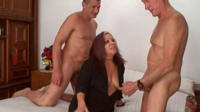 Big tits big ass milf threesome