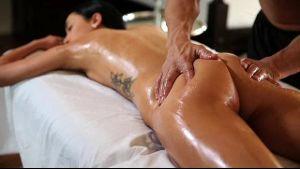 Sabrina Banks pussy massage.