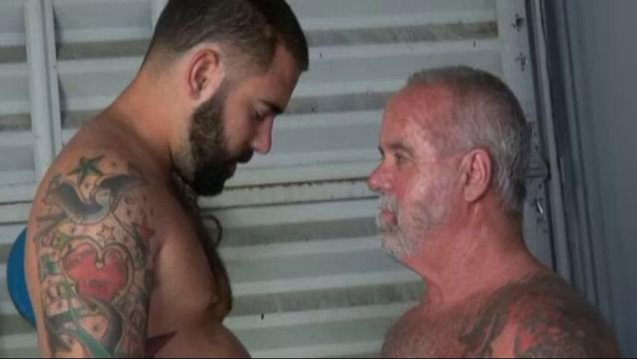 Alley Bear Bound to Daddy, starring Jake Shores, produced by Older4Me. Video Categories: Bear, Bareback and Mature.