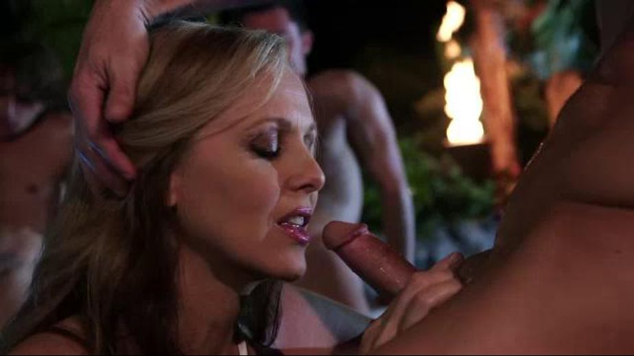 One MILF versus tons of dicks, starring Julia Ann, Seth Gamble, Ryan McLane, Tyler Nixon and Jay Smooth, produced by Wicked Pictures. Video Categories: Mature, Blondes and Blowjob.