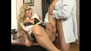 Blonde Slut Gets Butt Poked.