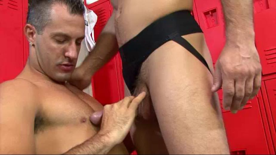 Muscle Men In The Locker Room, produced by Men Over 30. Video Categories: Blowjob and Safe Sex.