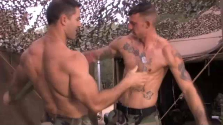 Living Rock Hard At Base Camp, starring Ricky Sinz and Roman Ragazzi, produced by Raging Stallion Studios and Falcon Studios Group. Video Categories: Blowjob, Military, Anal, Safe Sex, Muscles and Bear.
