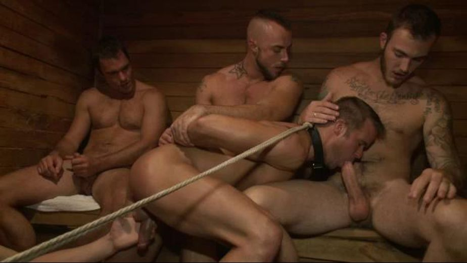 Cock Choking Tied To A Rope, starring Christian Wilde, Jessie Colter and Connor Patricks, produced by KinkMen. Video Categories: Fetish, GangBang, Anal, BDSM and Safe Sex.