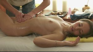 Cute Teen Gets Turned On By A Massage.