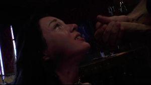 James Deen Throat Fucks His Vampire Slave.