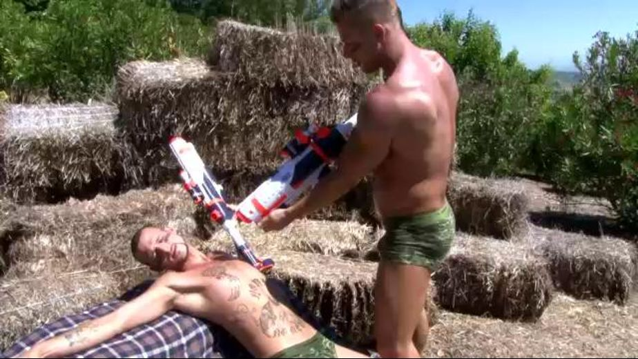 Combat Games With Water Guns and Cocks, starring Rod Daily and Jarvis Chandler, produced by Next Door Studios. Video Categories: Blowjob, Masturbation and Muscles.