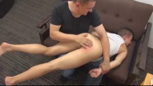 Bad Twink Gets His Bottom Spanked.