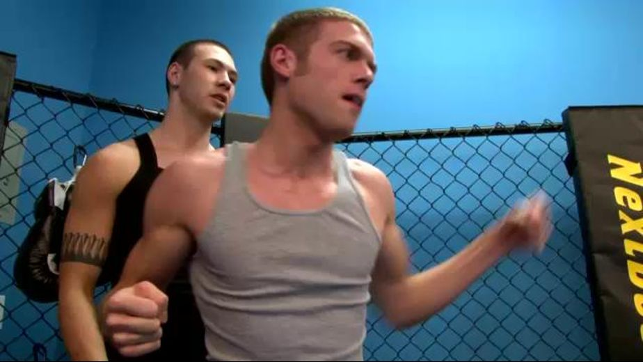 Kickboxing Cock Suckers, starring Morgan Shades and Anthony Price, produced by Next Door Studios. Video Categories: Threeway, Jocks, Blowjob and College Guys.