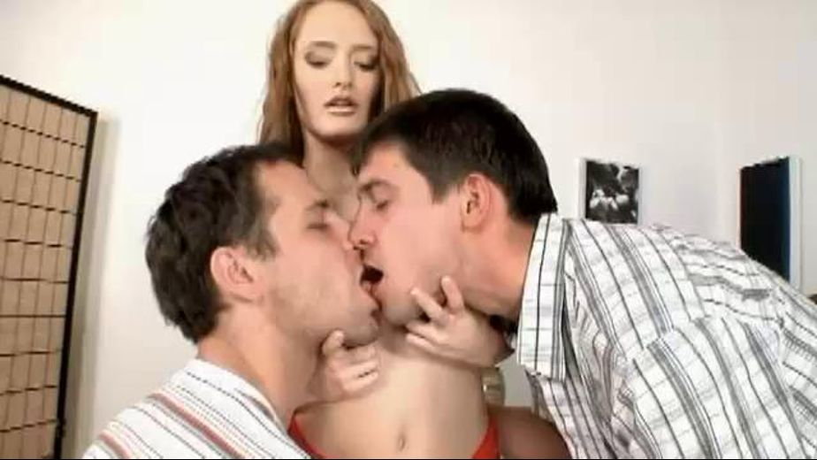 Two Bi Guys And A Horny Redhead, produced by Mile High Media and Depraved Creations. Video Categories: Threeway, Bisexual and Redheads.