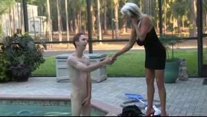 Sally D'Angelo's Pool Cleaner Gets Pushy.
