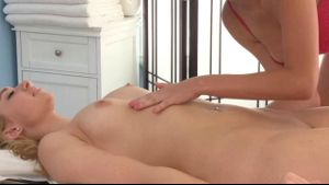 Brett Rossi Gives Molly Bennett A Massage.