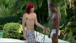 Long Red Hair Twink and Young Black.
