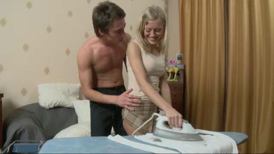 Watching You Iron Makes Me Horny, produced by Teen Erotica. Video Categories: Blondes and College Girls.