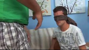 Birthday Boy Blindfold Surprise.