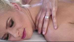 Massaging Anikka Albrite.