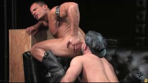 Hairy Leather Guys Moaning With Pleasure.