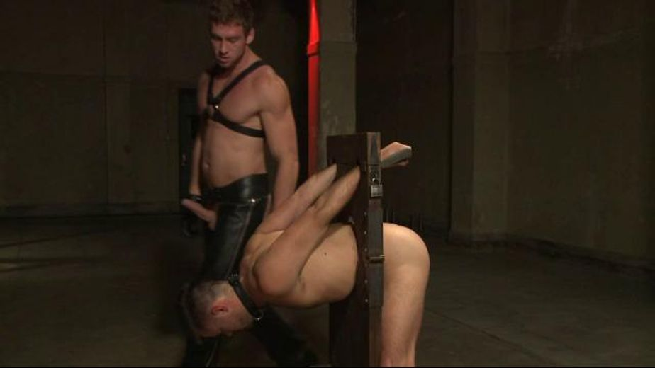 Slave Sucks the Tormentor's Cock, starring Mike De Marco and Connor Maguire, produced by KinkMen. Video Categories: Muscles, Fetish, Blowjob and Leather.