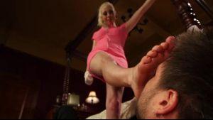 Foot Pervert Jerks Off To High Heels.