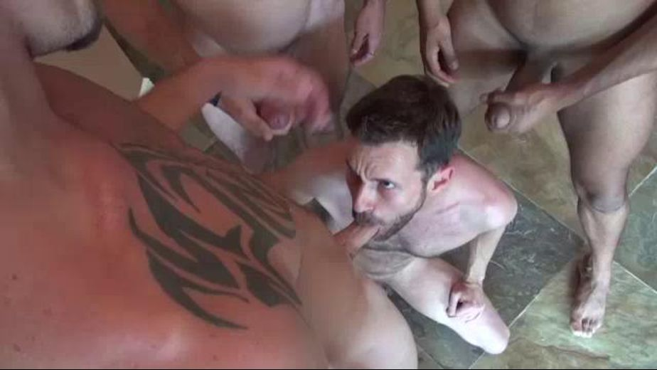 Slut Sucks Several Cocks At Once, starring Sean Storm, Angelo, Jimmy Slater and Brett Bradley, produced by Raw Fuck Club and Dark Alley Media. Video Categories: Mature, Big Dick and GangBang.